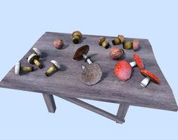 low poly mushrooms pack 3d model low-poly obj 3ds fbx blend dae x
