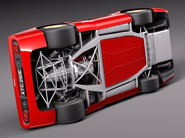 mclaren m6 gt grand prix race car 3d model max obj 3ds fbx c4d lwo lw lws. Black Bedroom Furniture Sets. Home Design Ideas