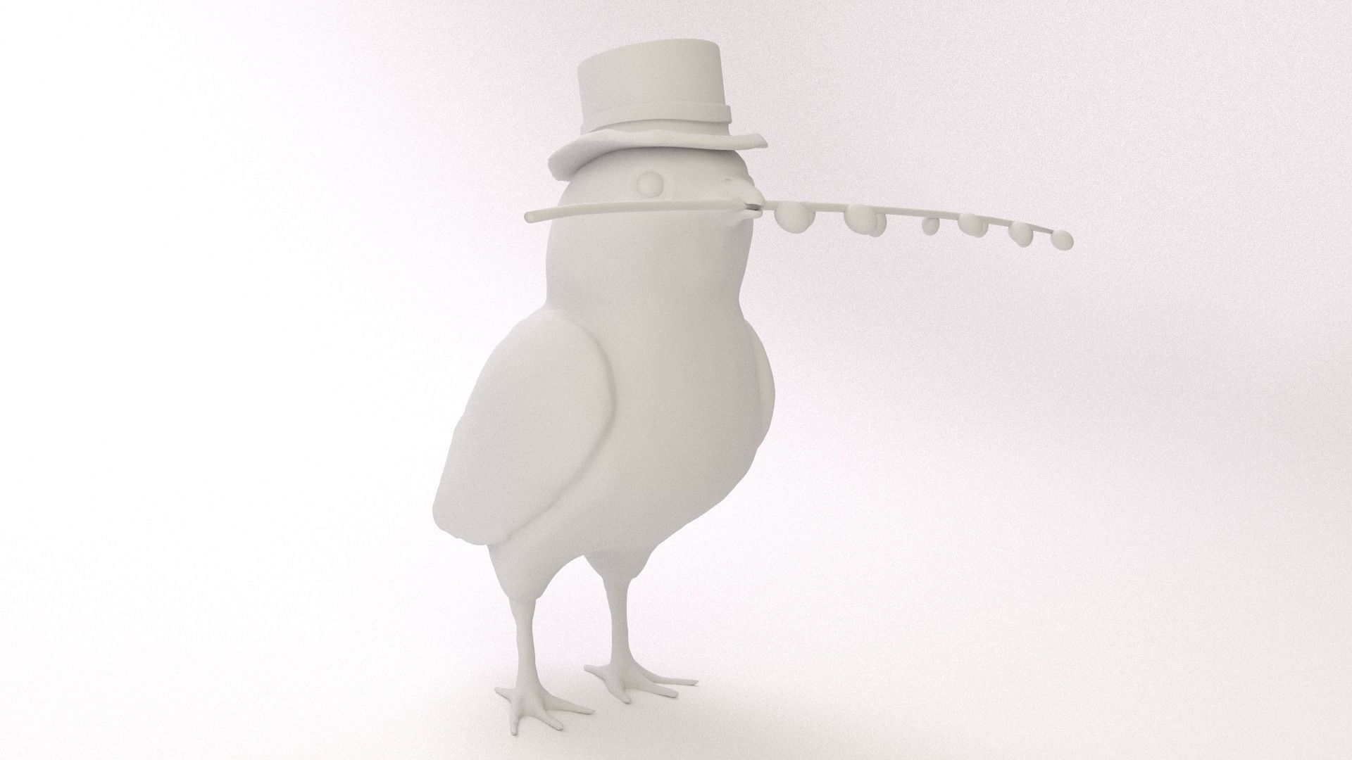 3d printable model easter chicken cgtrader