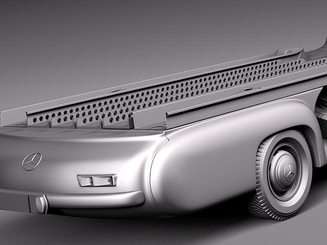 mercedes renntransporter 1954 combo with g 3d model max obj 3ds fbx c4d lwo lw lws. Black Bedroom Furniture Sets. Home Design Ideas