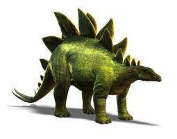 3d asset low-poly stegosaurus