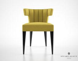 3d model stuart scott isabella dining chair