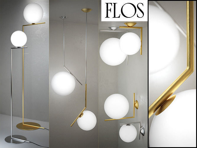 IC Lights - floor suspension ceiling wall by Flos 3D
