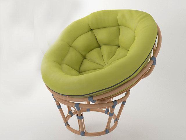 Round Wicker Chair Papasan 3d Model Max Obj Fbx 1 ...