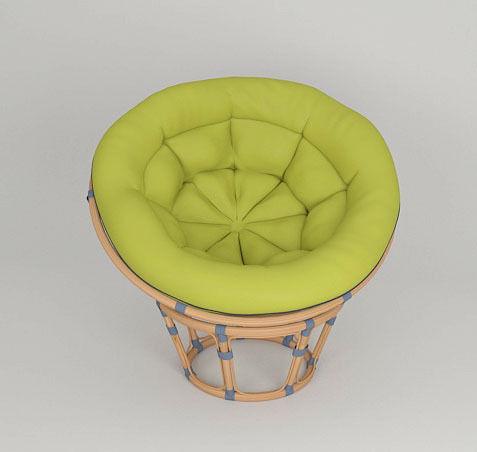 ... Round Wicker Chair Papasan 3d Model Max Obj Fbx 4 ...