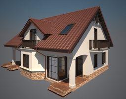 Cottage house 3D print model