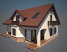 Cottage house 3D print model
