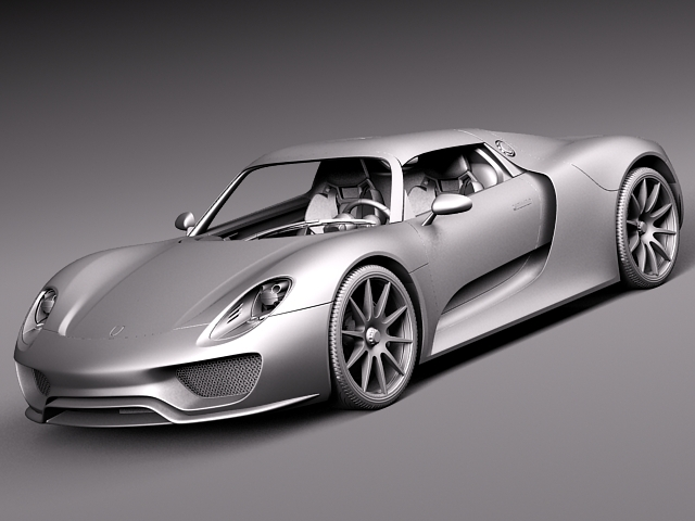 porsche 918 spyder martini 2013 3d model max obj 3ds fbx c4d lwo lw lws. Black Bedroom Furniture Sets. Home Design Ideas