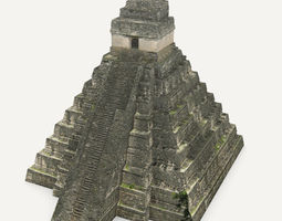 3d model VR / AR ready tikal temple 1