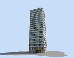low-poly skyscraper 1 3d model