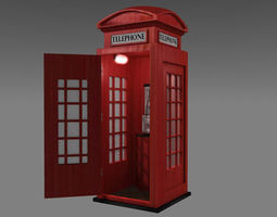 realtime 3d model uk phonebooth