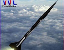 black brant ii sounding rocket VR / AR ready 3d model
