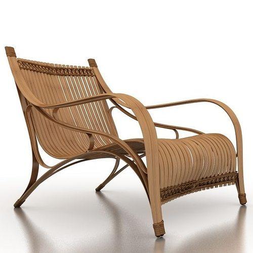 Beau Bilah Bamboo ArmChair 3D Model
