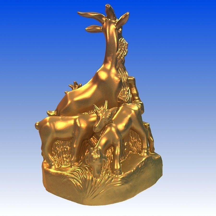 Five Sheeps Free 3D Model 3D Printable MAX OBJ STL