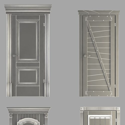 classic doors collection 3d model max obj 3ds fbx mtl 14 & Classic Doors Collection 3D model   CGTrader