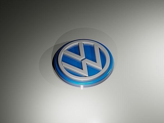 volkswagen cars logo 3d model dwg 1