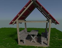 3D model Outdoor beer house