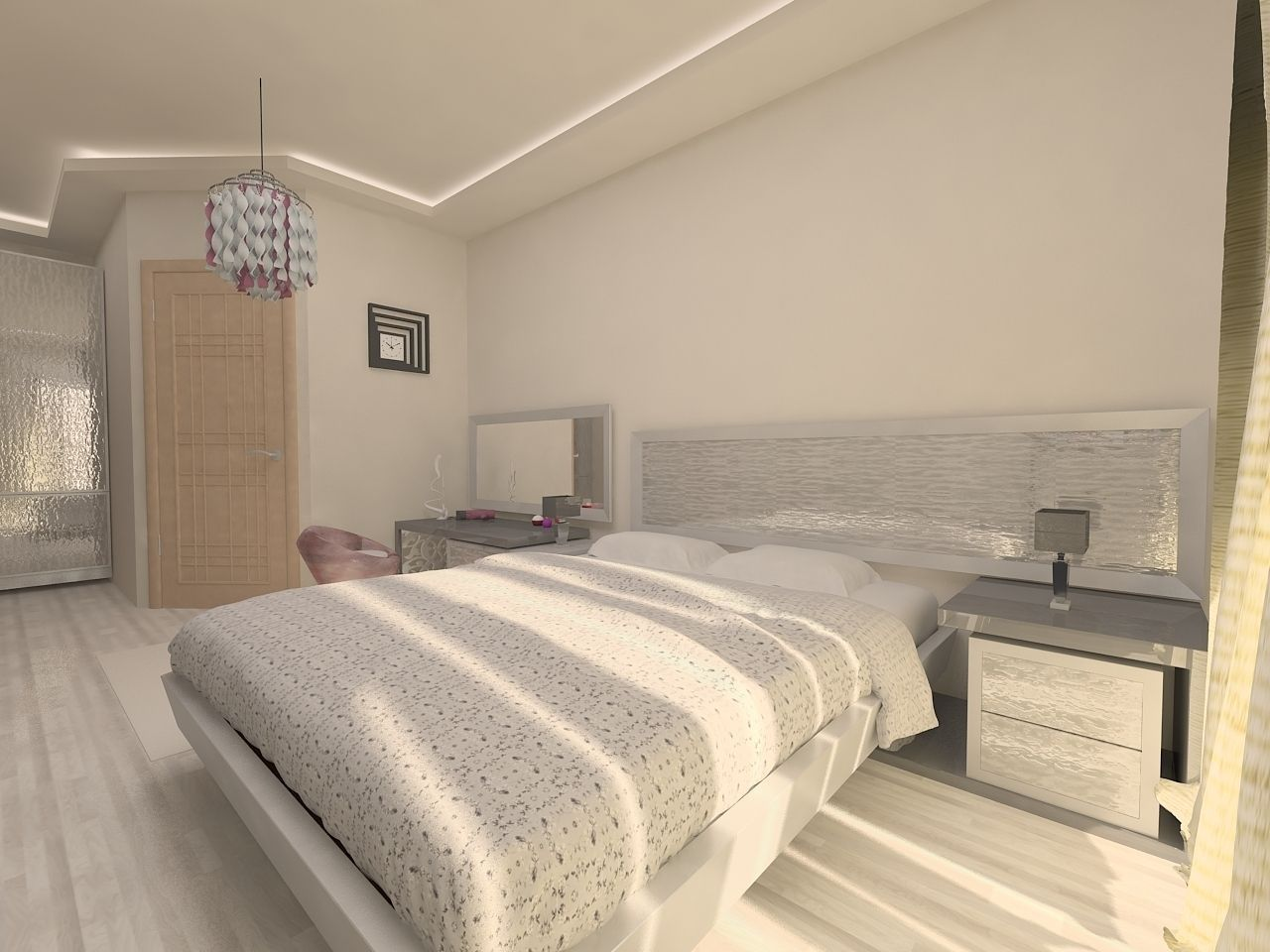 Bedroom design 3d model max for Bedroom designs 3d model