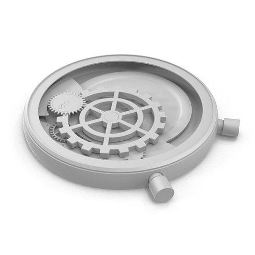 mechanical clock 3d model max obj 1