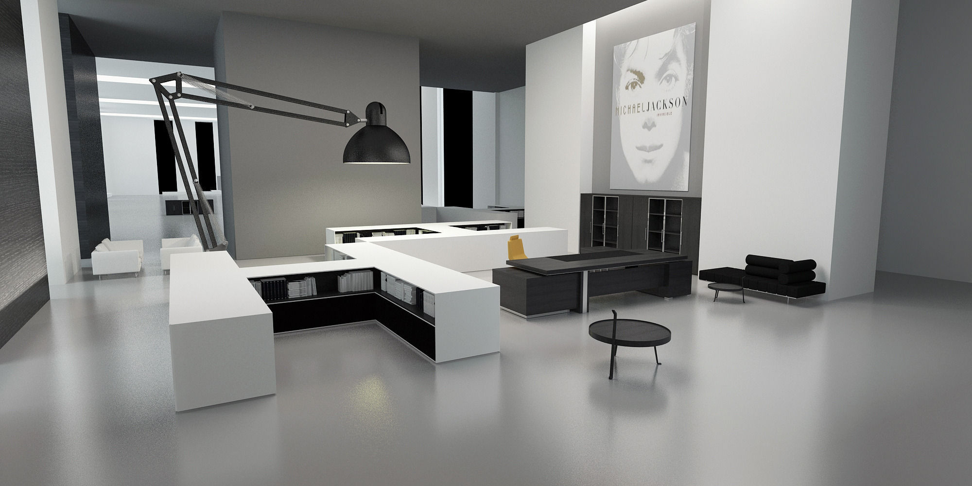 Modern office interior 3d model max for Interior design office modern