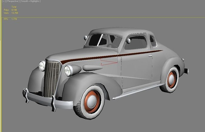 3d Asset Classic Car 1937 Cgtrader