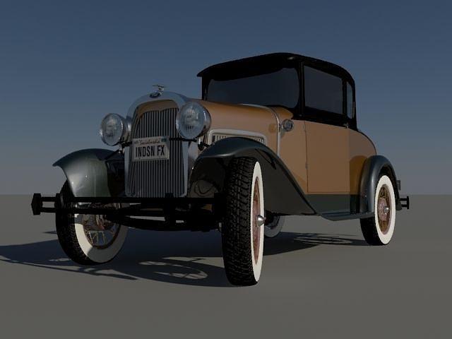 Classic Car Model Cgtrader