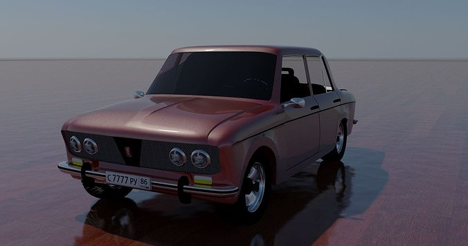 Russin Classic Car Vaz Cgtrader