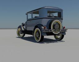Classic Car 1929 3D model