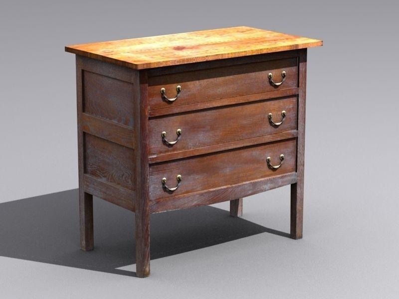 Old Wooden Table 3d Model Max Obj 3ds Fbx 1 ...