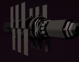 deep space transport animated 3d model