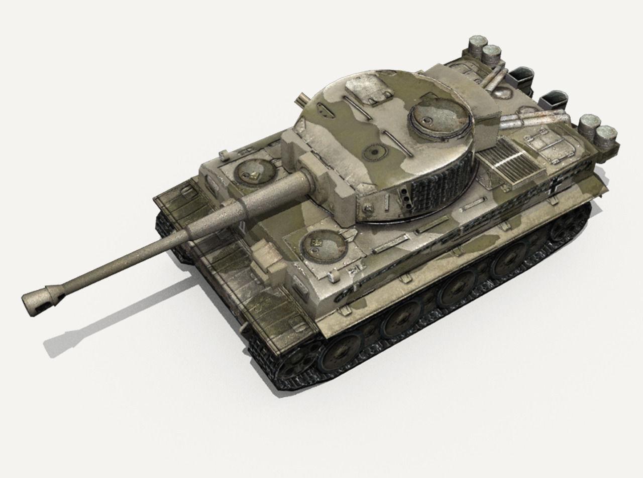 D model panzer vi tiger german heavy tank vr ar low