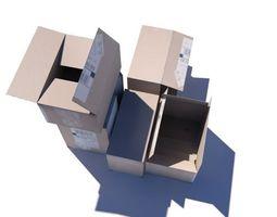 Crate 7 cardboard box 3D model