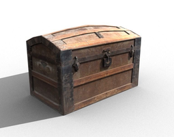 3D asset Crate 9 Chest treasure