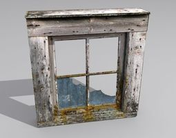Window 2 broken glass 3D asset