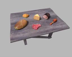 3D model food pack