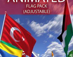 ADJUSTABLE FLAGS 3D model