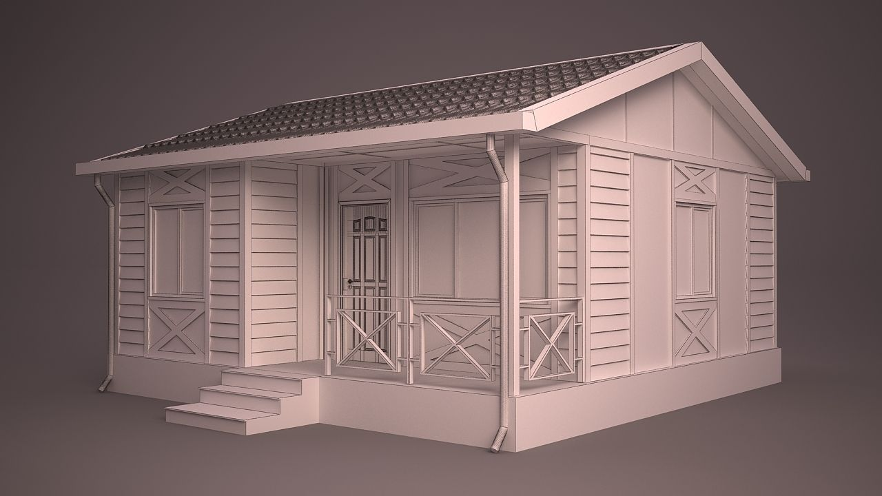 Home 2 3d model max obj 3ds fbx ma mb dwg for Home 3d model