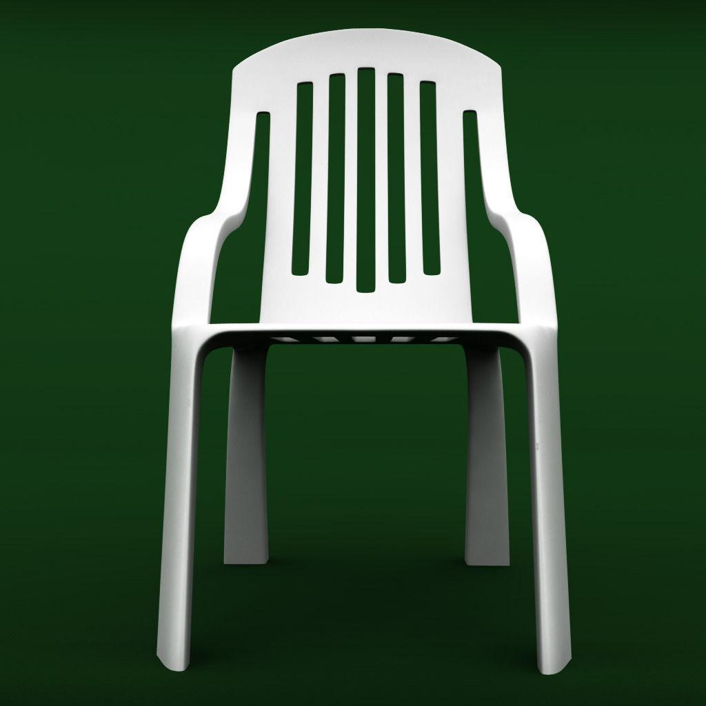 garden plastic furniture set 2 3d model max obj 3ds fbx mtl 4. 3D model Garden plastic furniture set 2   CGTrader