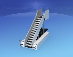 3D Airport Stairs 1