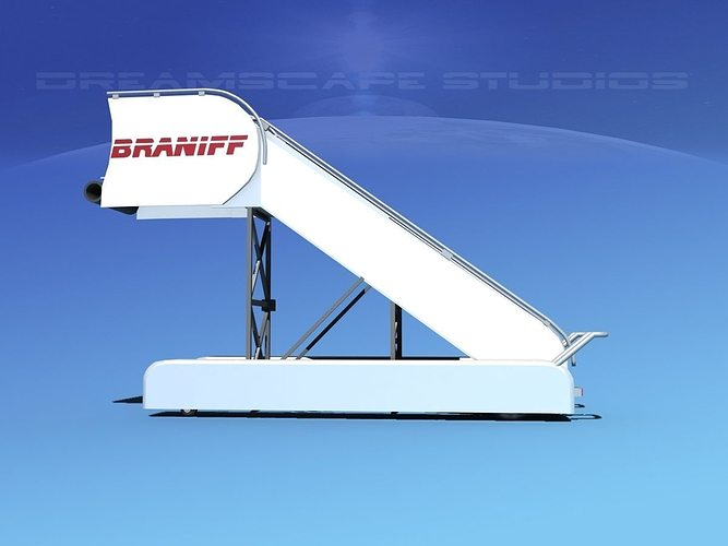 airport stairs braniff intl 3d model max obj 3ds lwo lw lws dxf stl 1