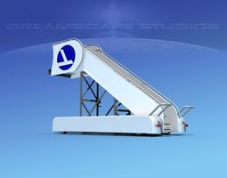 airport stairs eastern 2 3d model
