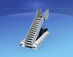 3d rigged airport stairs 2