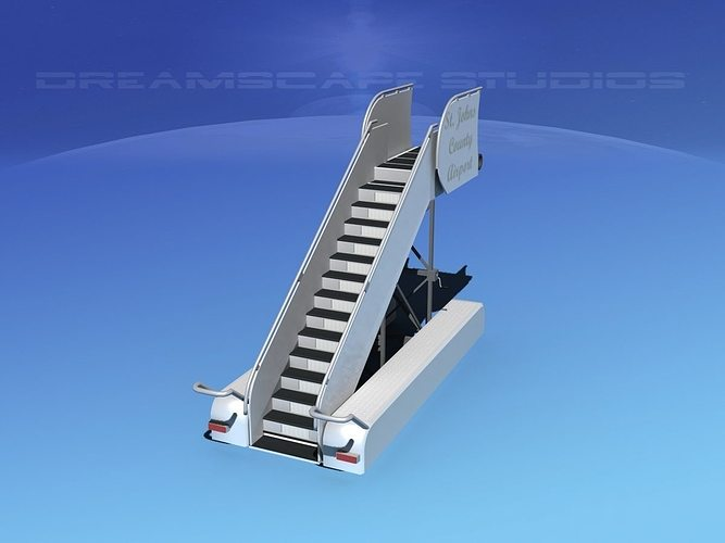 airport stairs 2 3d model max obj 3ds lwo lw lws dxf stl 1