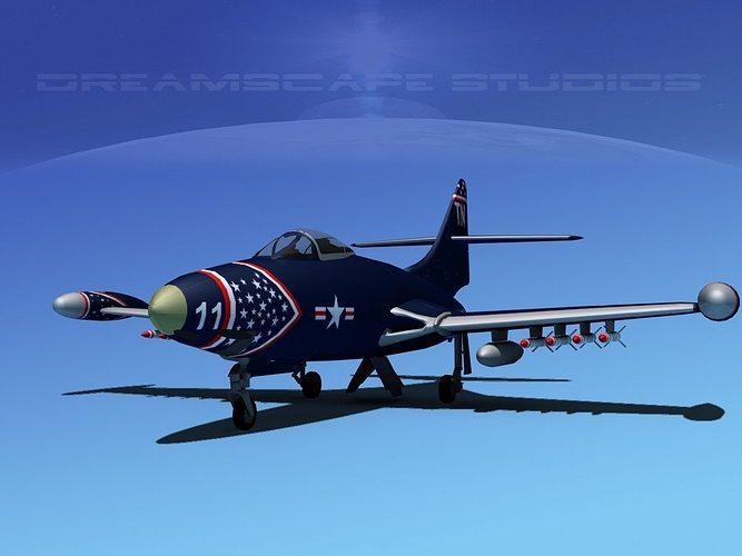 Grumman F9F-5 Panther USMC V02
