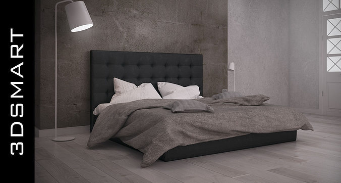 Photorealistic bed 3d cgtrader for 3ds max bed model