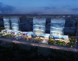 3d model city shopping mall 038a