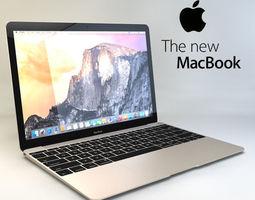 Apple MacBook 2015 3D Model