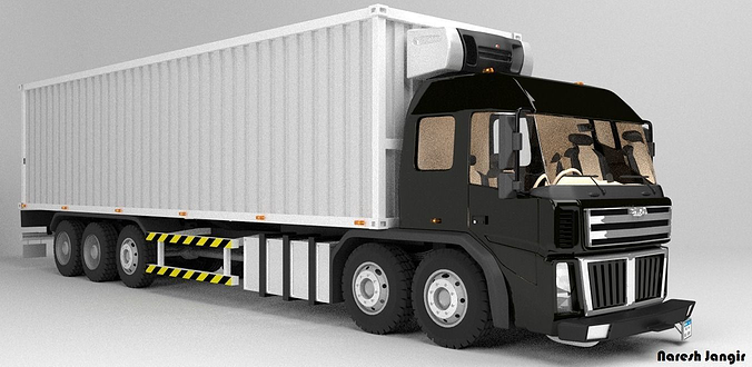 3d asset straight box truck cgtrader