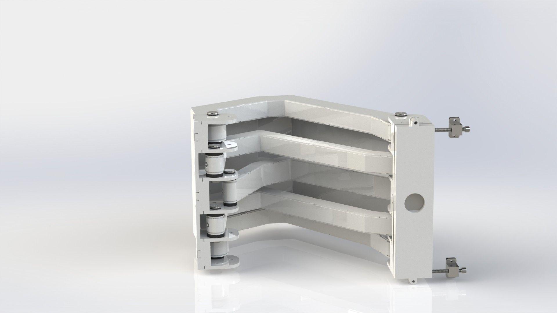 marine pantograph hinge aisi 316 satin finish 3d model ... & Marine Pantograph Hinge AISI 316 satin finish 3D model animated