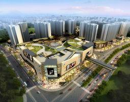 city shopping mall 047 3d model
